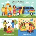 Hippie Design Concept Set