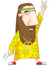 Hippie isolated on white background vector illustration eps Royalty Free Stock Photography