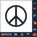 Hippie Peace icon flat