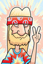 Hippie Peace Sign Stock Images