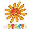 Hippie peace symbol Royalty Free Stock Photo