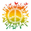 Hippie peace symbol Royalty Free Stock Image