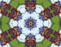 Hippie people kaleidoscope Royalty Free Stock Images