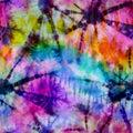 Hippie Rainbow Tie Dye Spike Print Royalty Free Stock Photo