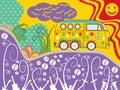 Hippie van travel