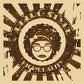 Hippies design over grunge background vector illustration Stock Photos