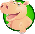 Hippo cartoon character Stock Photos