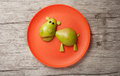Hippo made of fruits Royalty Free Stock Photo