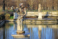 Hippomene statue in Tuileries Garden, Paris, France Royalty Free Stock Photo
