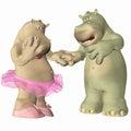 Hippopotamus in der Liebe Lizenzfreie Stockbilder