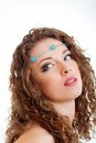 Hippy art make up Stock Photos