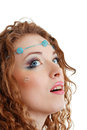 Hippy art make up Stock Images