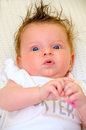 Hippy baby girl adorable looking at the camera Royalty Free Stock Photography