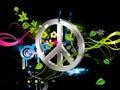 Hippy, symbol Obraz Royalty Free