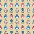 Hipster animals pets seamless background cute fashion vector Royalty Free Stock Photography