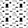 Hipster black and white seamless pattern vector background Stock Image