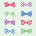 Hipster Bow Ties Vector Illustration Royalty Free Stock Photo