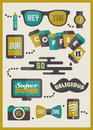 Hipster cafe menu set of design elements cool Royalty Free Stock Photos