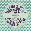 Hipster card with clothing and accessories various Royalty Free Stock Images