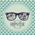 Hipster card glasses with clothing and accessories various Royalty Free Stock Photo