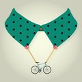 Hipster collar with chain bicycle accessory vector Stock Image