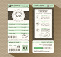 Hipster design Boarding Pass Ticket Event Invitation Royalty Free Stock Photo