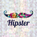 Hipster design over geometric background vector illustration Stock Photo
