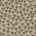 Hipster diamond pattern vector seamless seamless style elements on brown background Royalty Free Stock Image