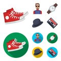 Hipster, fashion, style, subculture .Hipster style set collection icons in cartoon,flat style vector symbol stock