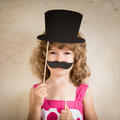 Hipster funny kid trendy fashion concept Royalty Free Stock Photo