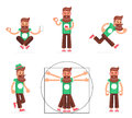 Hipster Geek Stand Run Walk Meditate New Smartphone Mobile Apps Technology Enlightenment Cartoon Character Icons Symbol