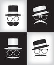 Hipster and gentleman illustration Royalty Free Stock Photo