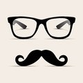 Hipster glasses, Hipsta man. Vector Royalty Free Stock Image
