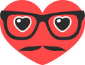 Hipster heart vector illustration of separate layers for easy editing Royalty Free Stock Photo