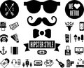 Hipster icons this is a set of Stock Photos