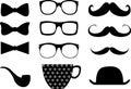 Hipster moustache style elemments se2