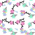Hipster Pattern Abstract Retro 80 s Jumble Geometric Line Shapes. fashion style seamless background. Vector illustration