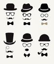 Hipster retro vintage icon set vector Royalty Free Stock Image
