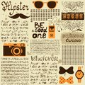 Hipster seamless vintage newspaper with unreadable text vector illustration Royalty Free Stock Images