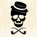 Hipster skull graphic background this is file of eps format Royalty Free Stock Photo