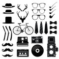 Hipster style set 1 . Vector illustration