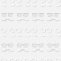 Hipster sunglasses and mustache seamless pattern Royalty Free Stock Photo
