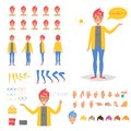 Hipster woman for animation