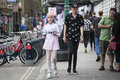 Hipsters on Brick Lane in the East End of London, UK . distribut Royalty Free Stock Photo
