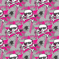 Hipsters or emo seamless pattern