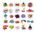 Hipsters teens set of stikers Royalty Free Stock Photo