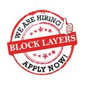 We are hiring Block layers  - grunge printable label / stamp Royalty Free Stock Photo