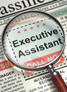 We are Hiring Executive Assistant. 3D. Royalty Free Stock Photo