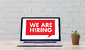 WE ARE HIRING Human Resources Interview professionals working fi Royalty Free Stock Photo