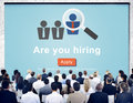 Hiring Human Resources Job Career Occupation Concept